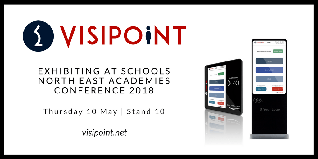 VisiPoint are exhibiting at Schools North East Academies Conference 2018 - Thursday 10th May - Stand 10