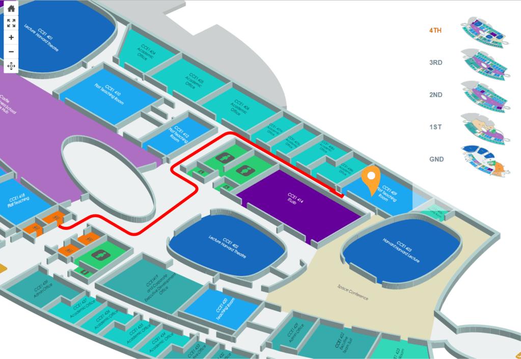 Wayfinding map of university campus