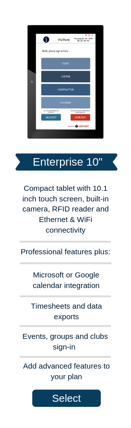 "Enterprise Plan + 10"" Tablet"